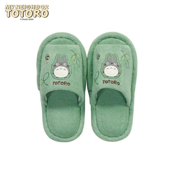 マルイウェブチャネル[マルイ] かわいいトトロのアップリケがついた子供用スリッパ(内寸約18.0cm) もりのかぜ/となりのトトロ(TONARI NO TOTORO)