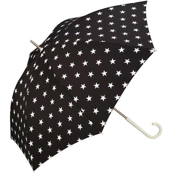 【長傘】【軽くて丈夫で持ちやすい】ベーシックスター (雨傘/レディース)