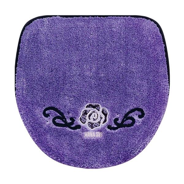 コード刺繍にバラのアップリケ、ラインストーンが付いた、高級感のあるマルチフタカバー コードローズ
