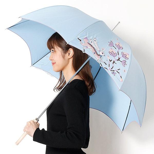 雨傘(長傘/手開き)北欧調/うさぎ(婦人/レディース)