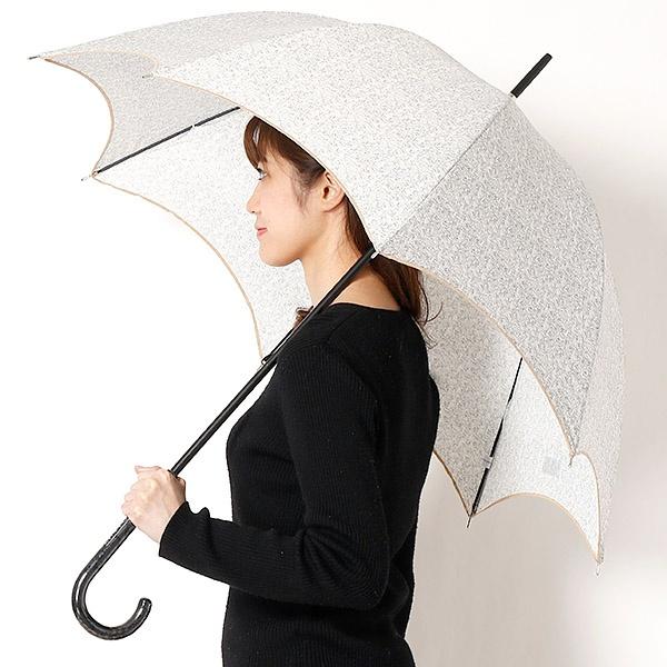 雨傘(長傘/手開き)ツイードプリント(婦人/レディース)