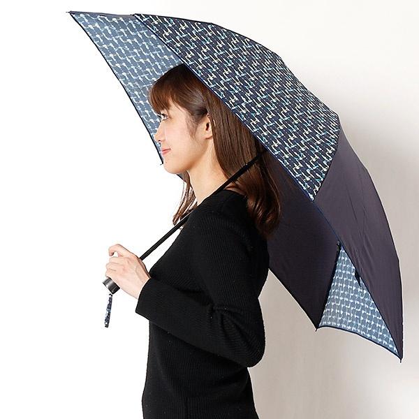 雨傘(3段/折りたたみ/ミニ)ツイードプリント/コンビ(婦人/レディース)