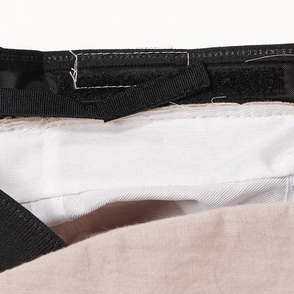【UV遮蔽率99.8%以上・サイズ調整できる】グランジウォッシュリネン 小つばクロッシェ