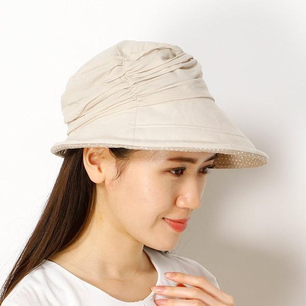 【手洗いできる・UVケア】チャーム付きハット(帽子/レディース)