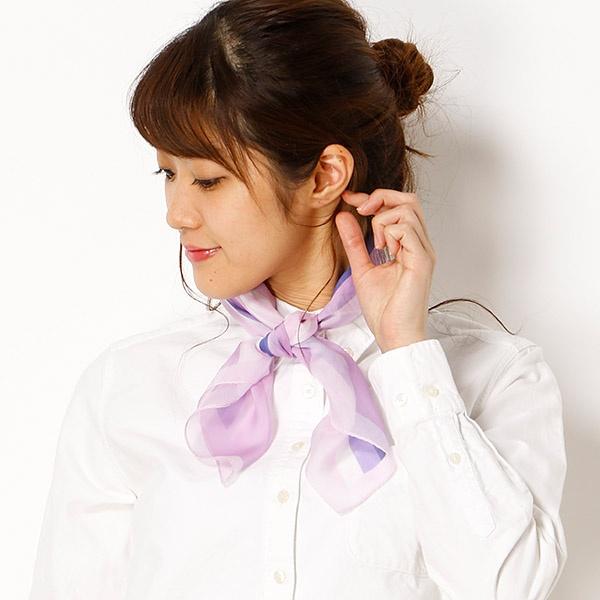 【手洗いOK】幾何柄プリントプチスカーフ