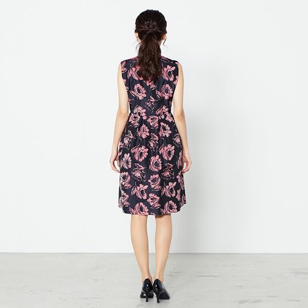 a8bfe2398840d 花柄ボリュームドレス