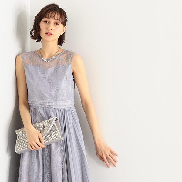 (5サイズ展開)プリーツ切替ドレス