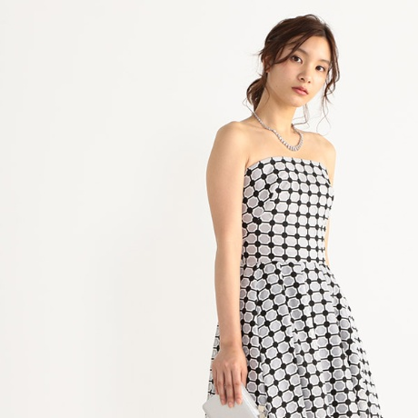 ビスチェ風モノトーンドレス